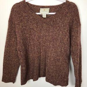 Express Tricot Sz L Vtg 100% Wool Sweater